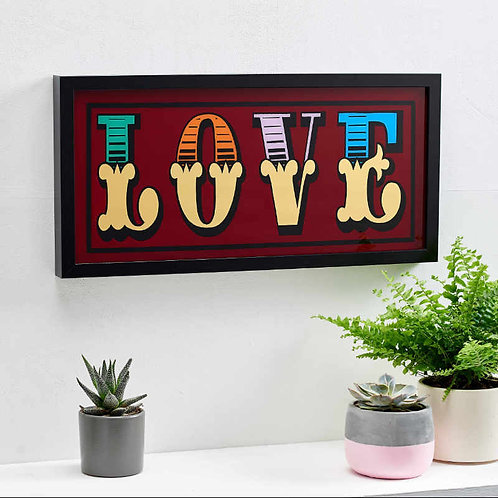 Circus Style Gold Leaf Love Sign 1