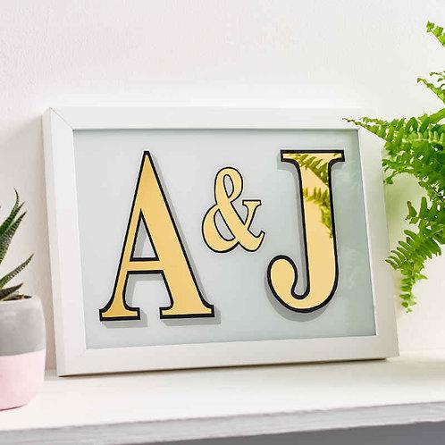 Gold Leaf Roman Style Letter Pair 1