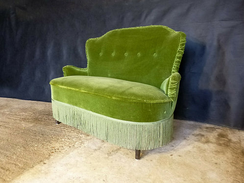 1950'S Danish Two-Seater Cocktail Sofa Couch Vintage Retro