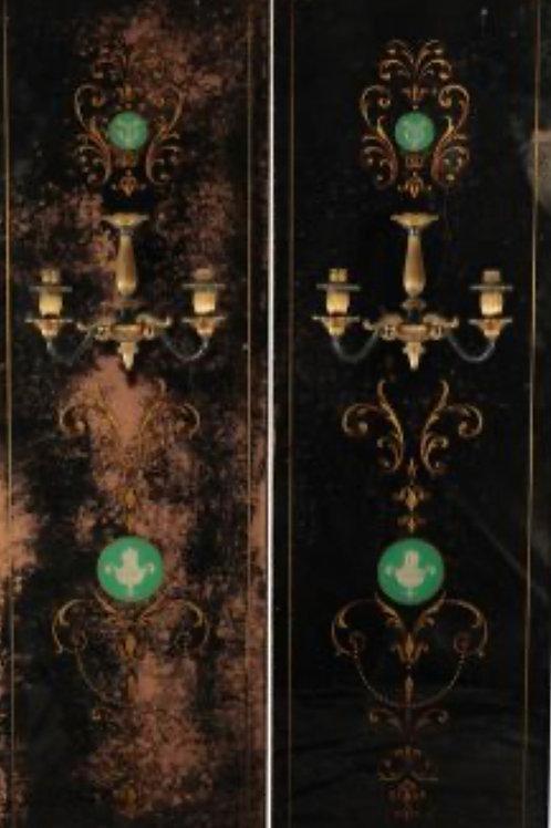 Super Rare Pair of Mid 19th Century Belle Epoque Café Girandole Mirrors