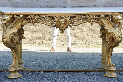 A 19th century giltwood console table