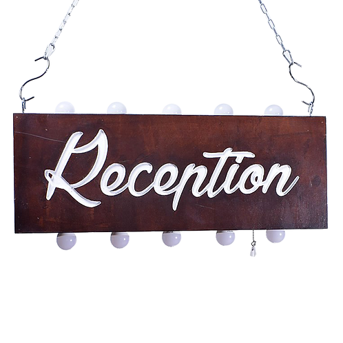 Illuminated Reception Sign