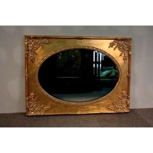 Large golden baroque mirror