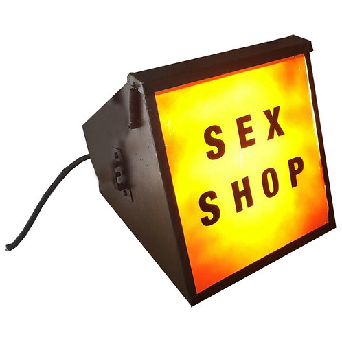 Vintage Retro 1950 Sex Shop Theatre Light Display 1