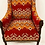 Thumbnail: Occasional Armchair with a Vibrant Kilim Fabric