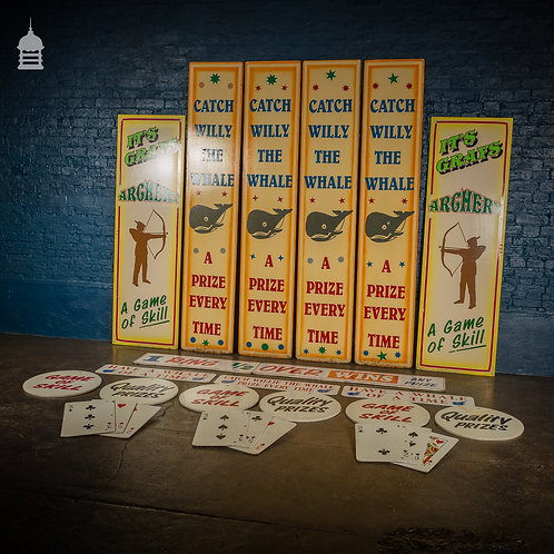 Awesome Batch of 20th C Fairground Signs