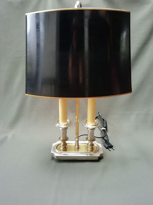 A stunning old feature lamp with lacquer shade.
