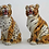 """Thumbnail: Young  - """"Faience"""" Ceramic Leopard & Tiger, hand-decorated"""