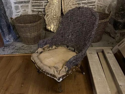 Cornelius V Smith Iron Back Slipper Chair