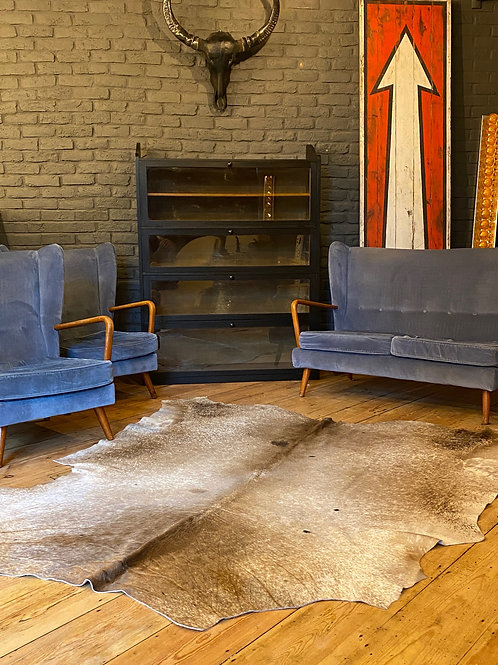 Wonderful Wingback Sofa and Pair of Armchairs By Howard Keith C.1955