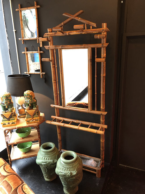Late Victorian Period Bamboo Hall Stand