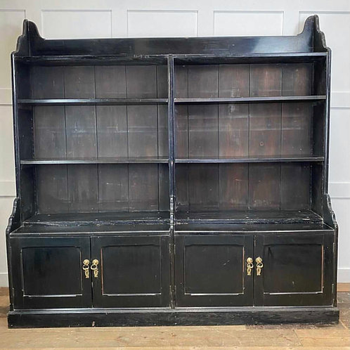 19thc Ebonised Country House Book Case