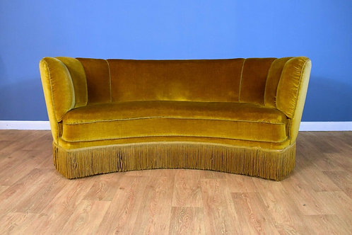 Danish Art Deco 'Banana' Sofa