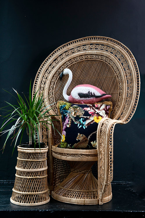Natural Mandarin wicker Peacock chair