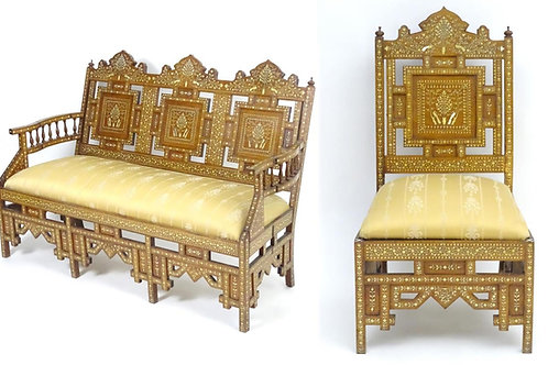 An early 20thC Indian chair and sofa set