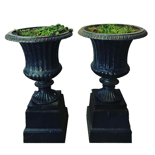 Cast Iron Urn on Stands 1