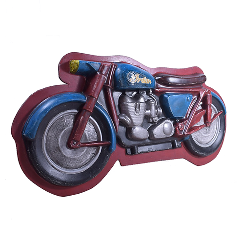 Painted Fairground Motorcycle Mould full 1