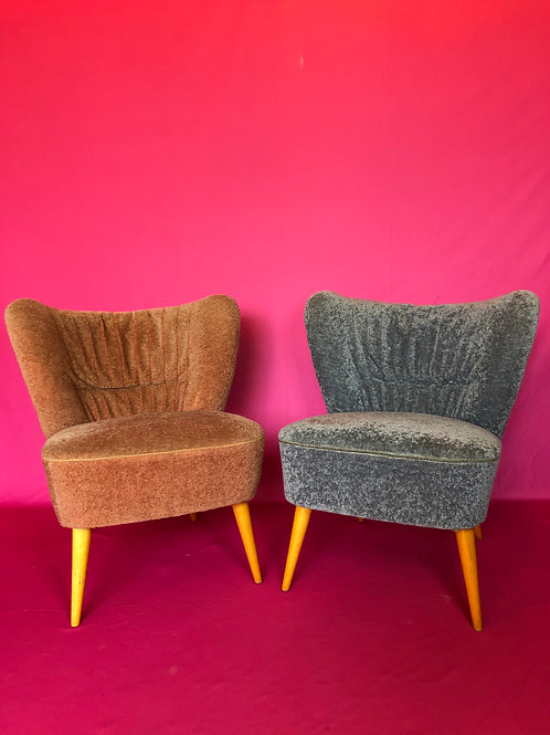 A vintage pair of Mid-Century Bartholomew cocktail chairs C1955