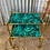 Thumbnail: Hollywood Regency brass & malachite side tables