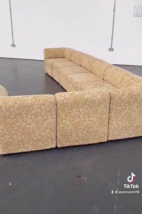 Mid Century Vintage 1960s 70s Modular Sofa Suite