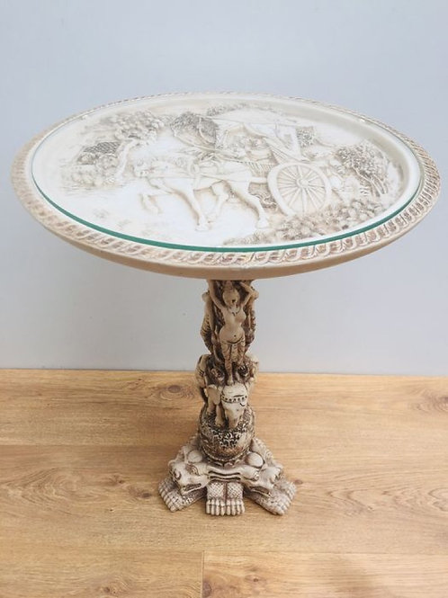 Beautifully decorative Chinoise Ivorine side table.