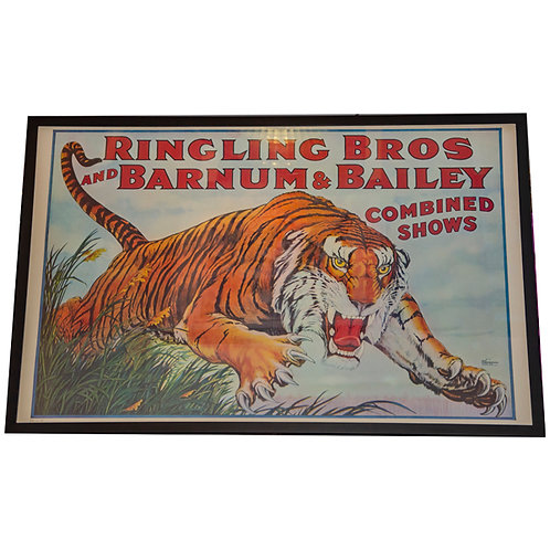 Ringling Bros and Barnum and Bailey Combined Shows Tiger poster