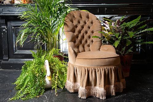 Vintage Button Back Boudoir Bedroom Chair