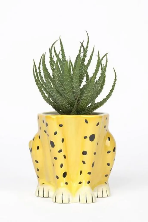 Ceramic Cheetah Plant Pot