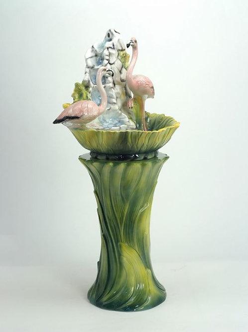 """Faience"" Ceramic flamingo's fountain,"