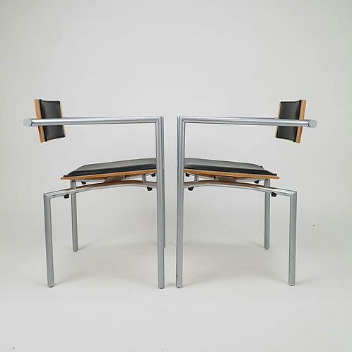A stunning set of 2 very luxurious desk chairs from the Brand Thonet.