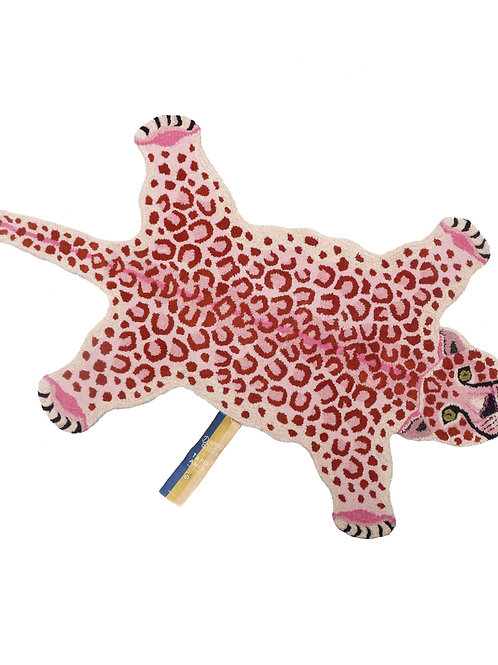 PINKY LEOPARD RUG LARGE
