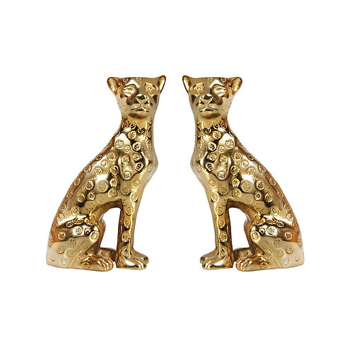 Brass Leopard candle holders