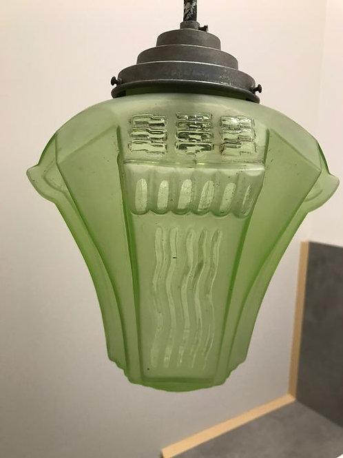 Stunning understated Chandelier, Lamp, Lantern - Art Deco - Glass
