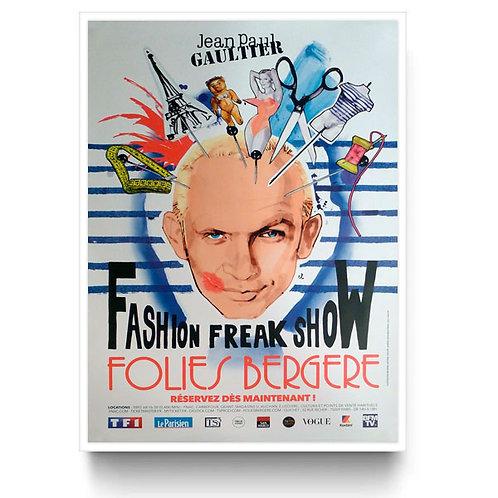 Jean Paul Gaultier Original Bus Stop Poster Théâtre Des Folies Paris White 1