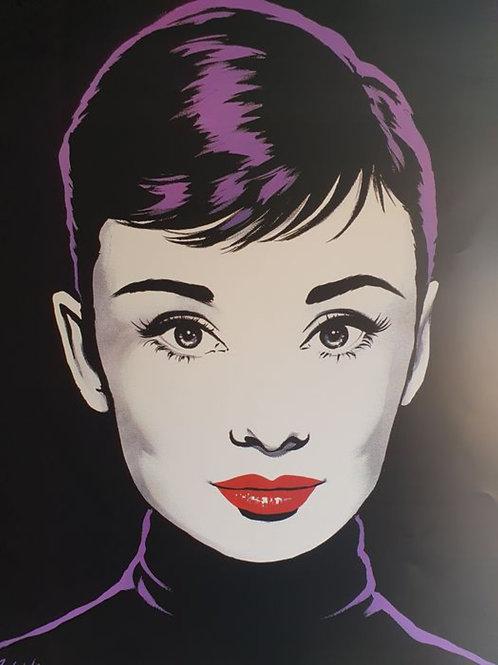 Stunning Audrey Hepburn Lithograph
