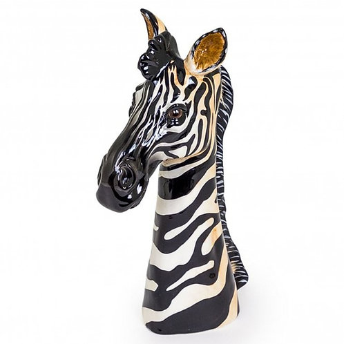 Ceramic Zebra Head Vase