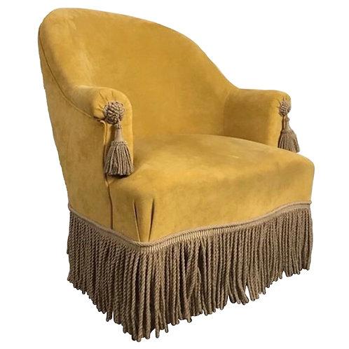 French Napoleon Style armchair tasselled arm 1