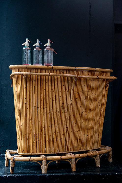 Original vintage bamboo Tiki bar