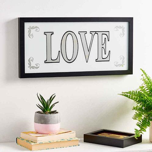 Silver Leaf 'Love' Sign 1