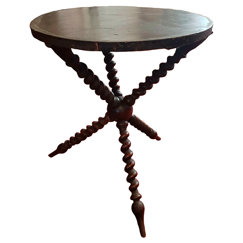 Antique Victorian  gypsy table ebonised top patina 1