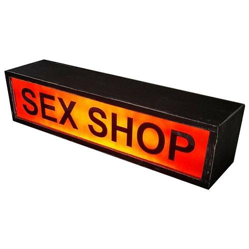 Illuminated Shop Advertising Sign 1