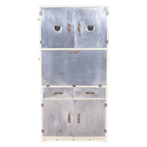 Polished Metal Cabinet 1