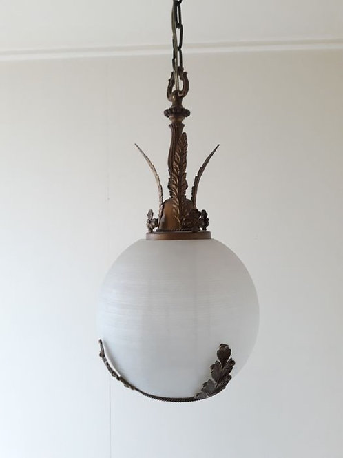 Regency - Bronze (gilt/silvered/patinated/cold painted) Hanging lamp.