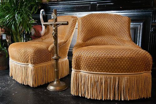 French Napoleon III armchairs