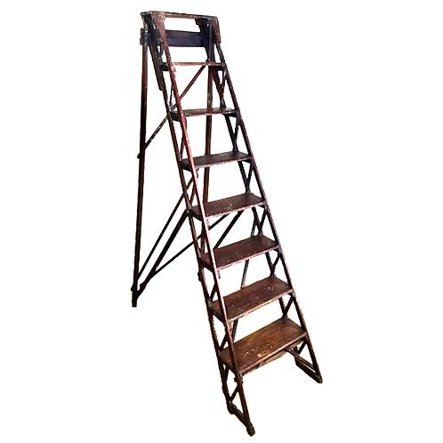 Antique Wooden Decorators Ladder full 1