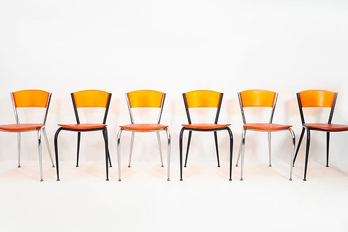 Set of 6 Bllarti cocktail chairs by Enrico Baleri for Baleri Italia