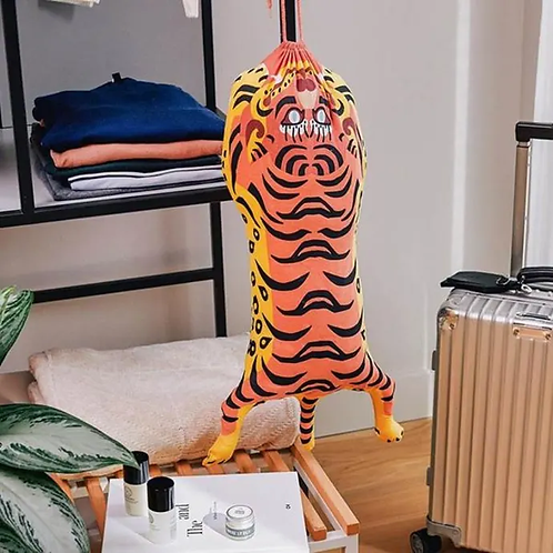 Tibetan Orange Tiger Travel Laundry Bag
