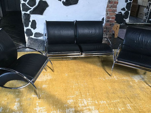 Italian Leather Seating Group