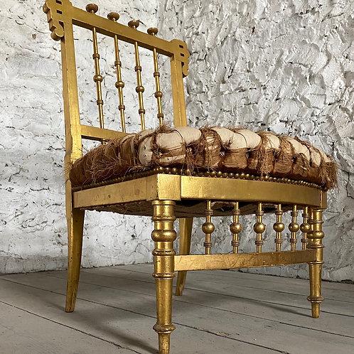 19th Century Gilt Slipper Chair