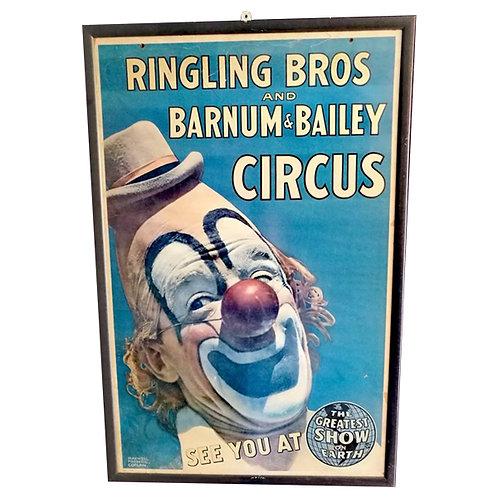 Original 1940s Circus Poster 1